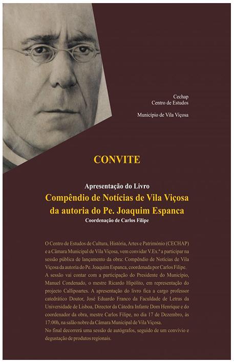 Apresentação do Livro Compêndio de Notícias de Vila Viçosa (2016)